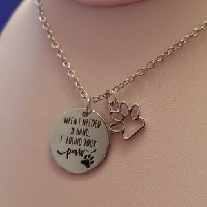When I Needed a Hand Paw Necklace